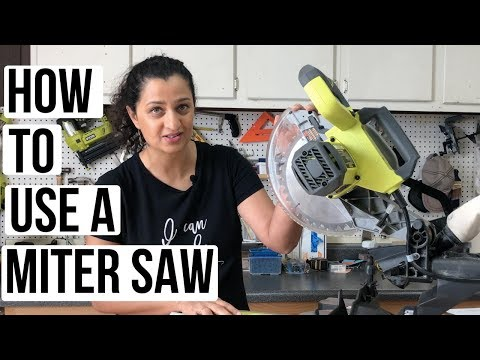 How to use a Miter Saw - A complete beginner's guide