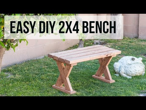 How to build a 2x4 Bench - 3 ways - Indoor and Outdoor Bench