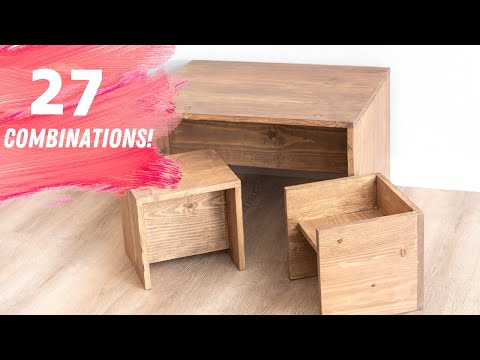 DIY Convertible Kids Table and Chair Set! Montessori inspired - 27 combinations!