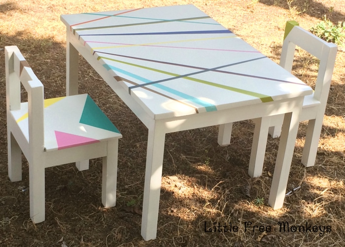 A DIY Whimsical kids table