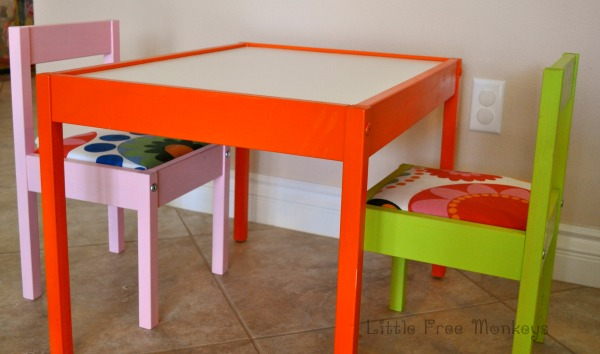 A Colorful Ikea Latt Hack for Kids