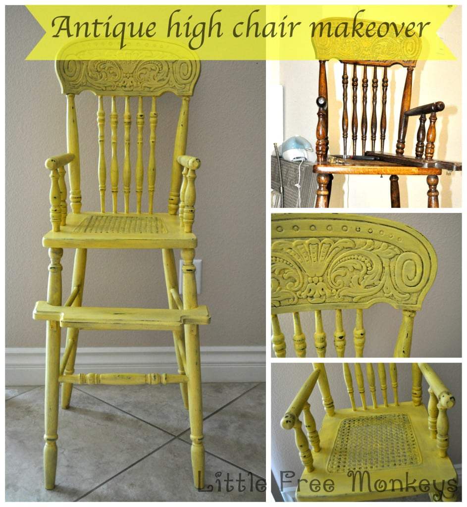 Antique High Chair Makeover - Little Free Monkeys