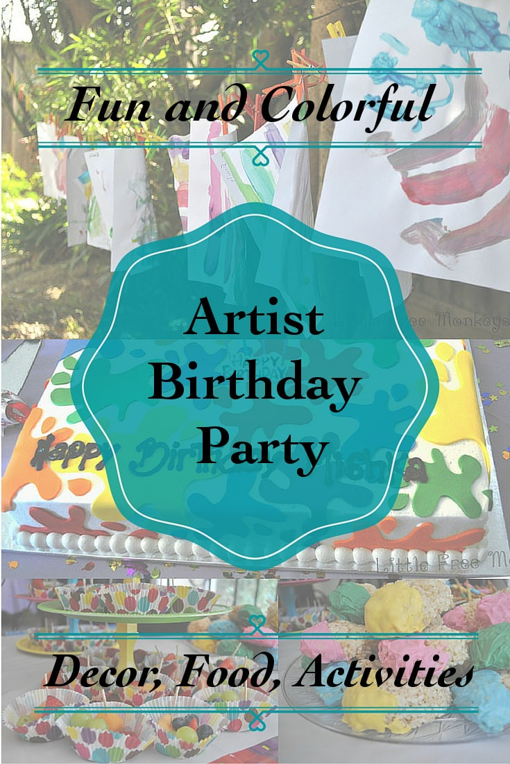 A fun and colorful kids art party full of colorful food, decorations and activities. Everything on a budget! The perfect paint party for any little artist