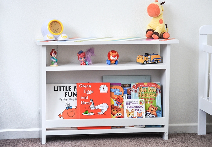 DIY kids bedside table with book storage - Anika\'s DIY Life
