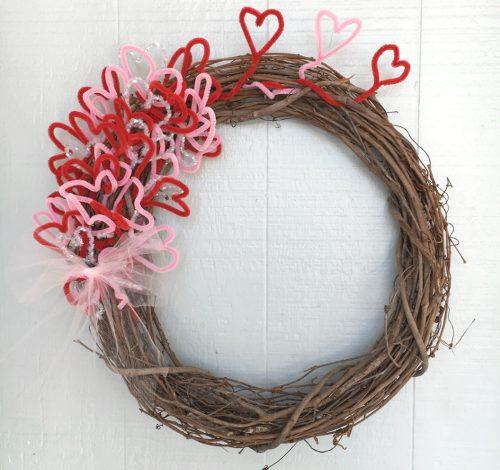 Easy DIY Valentine's Wreath – under $5