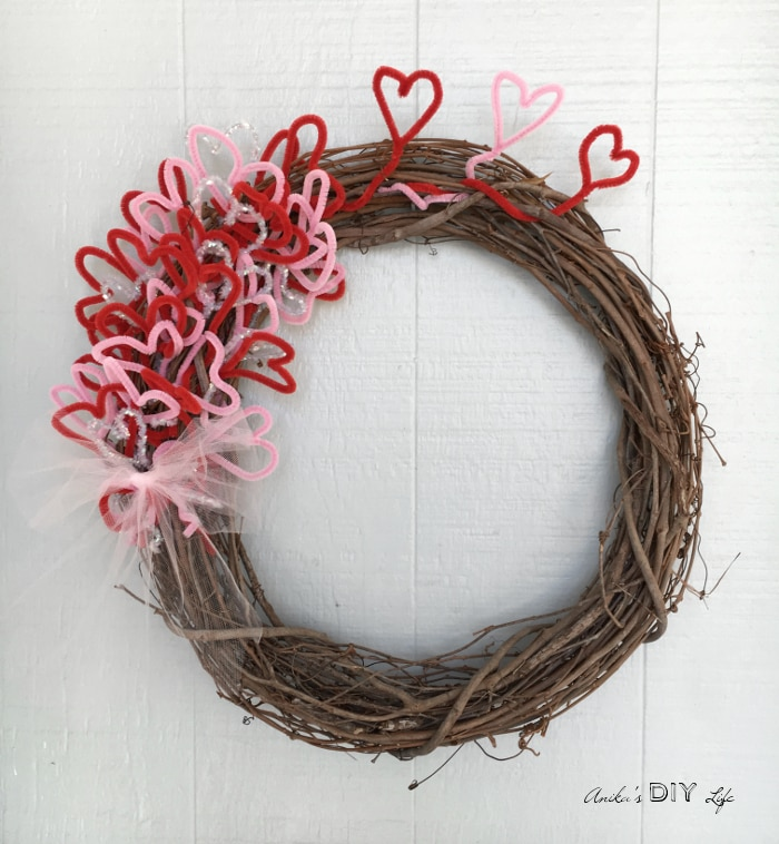 An Easy DIY Valentineu0027s Wreath! It Is So Beautiful With Its Rustic Charm.  Its