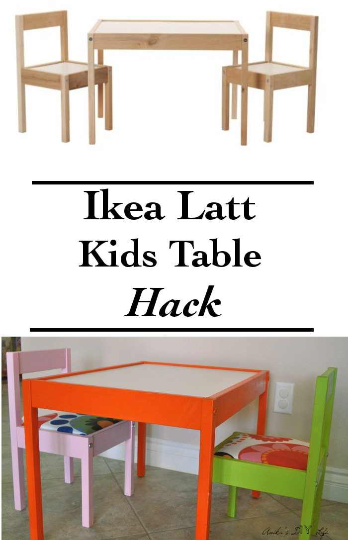 I can't believe how easy this Ikea Latt children's table makeover is!