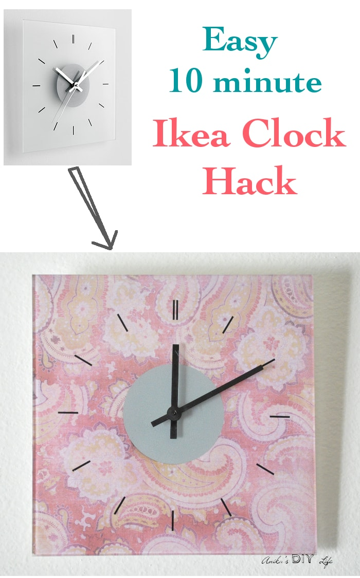 Put your own spin on the plain Ikea Skoj wall clock by adding fun patterns