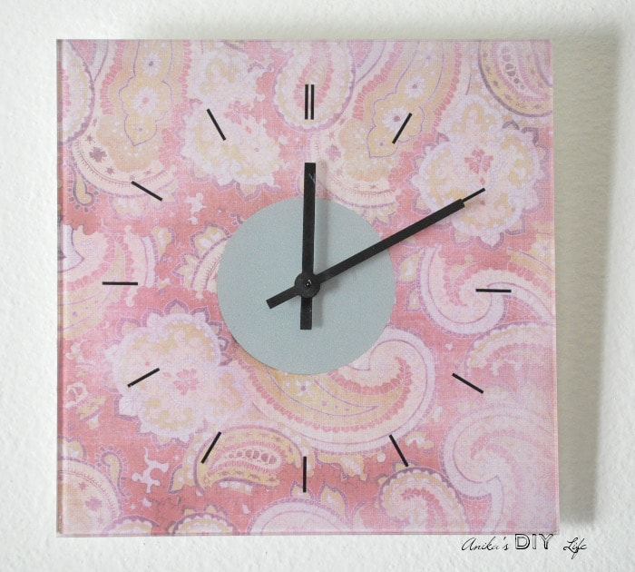 An Easy Ikea Skoj Wall Clock Hack Using Pretty Scrapbook Paper