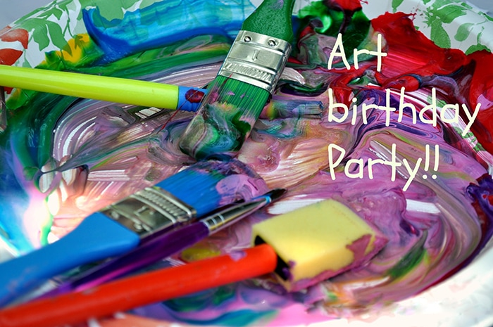 A fun and colorful kids art party full of colorful food, decorations and activities. Everything on a budget! The perfect paint party for any little artist.