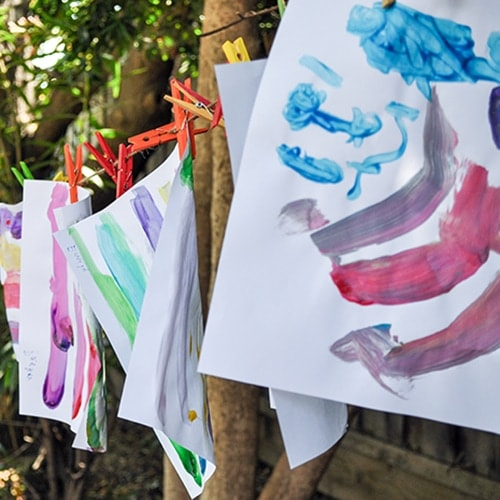 DIY Kids Art Party – Colorful Food and Decor