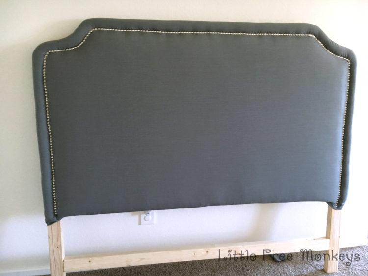 nailhead trim on upholstered headboard