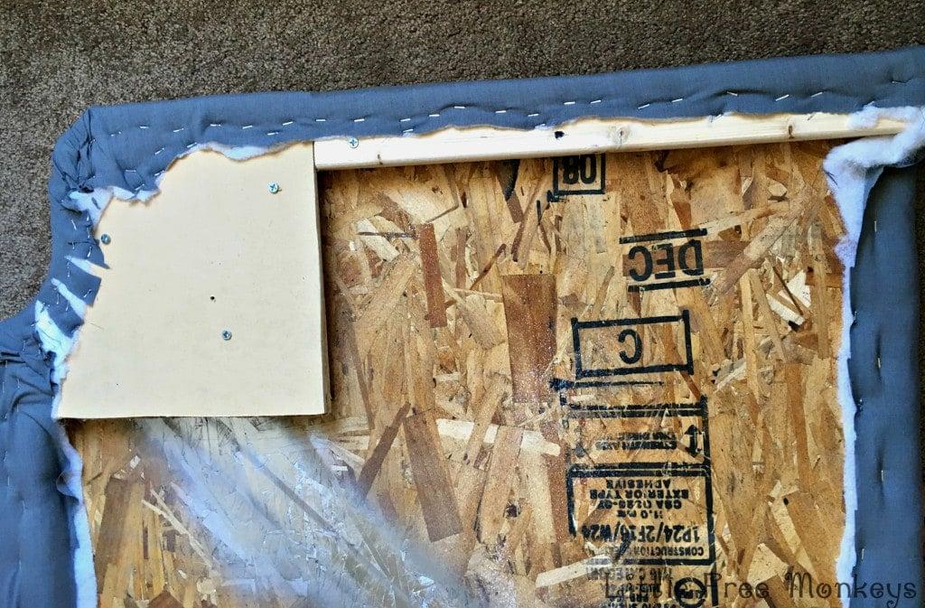 upholstery of headboard