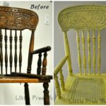 Antique Highchair makeover – Pretty and Bright!