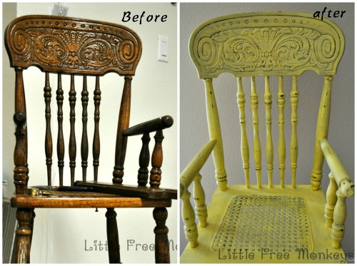 Antique highchair makeover - Little Free Monkeys