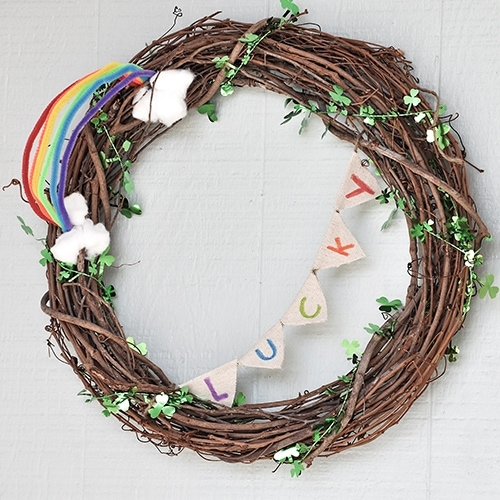 Easy DIY St. Patrick's Day Wreath