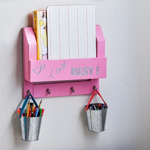 DIY Desk Organizer – How To Make A Homework Station
