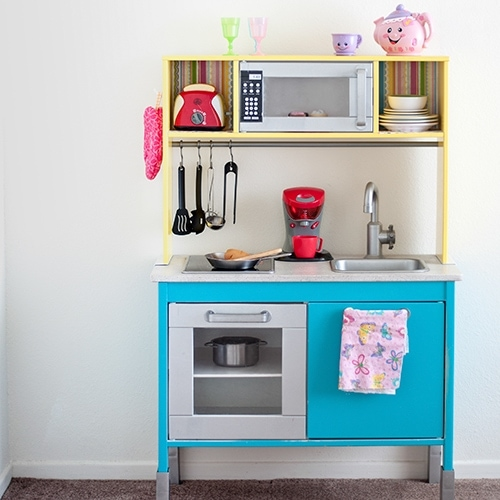 Ikea Duktig Kitchen Hack – Fun and Colorful