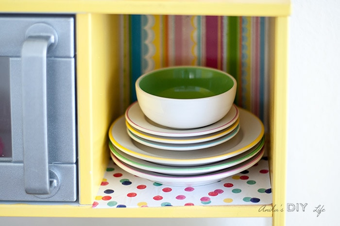Ikea Duktig Kitchen Hack - Fun and Colorful - Anika\'s DIY Life