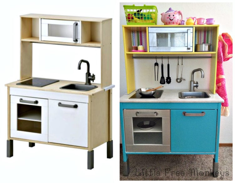 An easy Ikea Duktig play kitchen hack