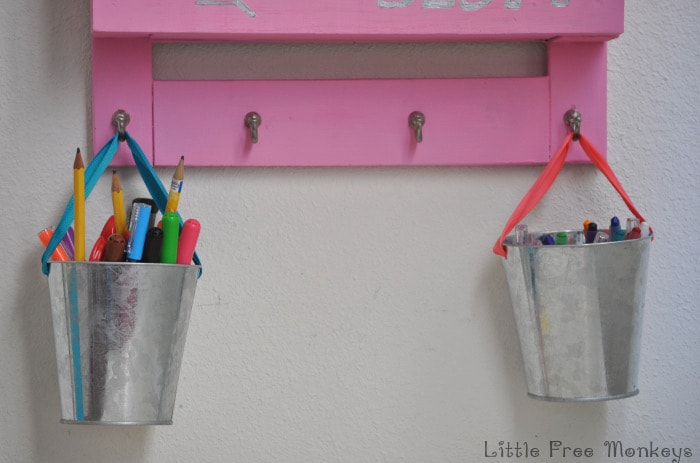 Keep all the homework supplies off the desk with this homework station and desk organizer