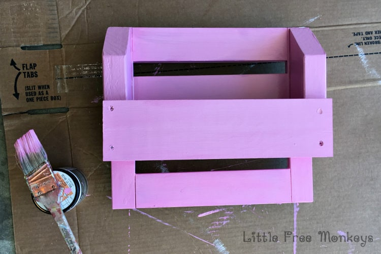 painted desk organizer
