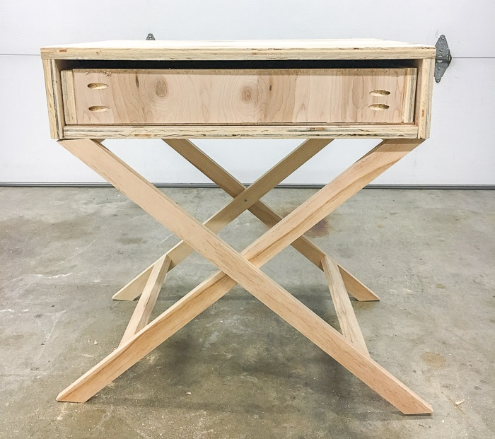 How to build a drawer for an X-leg accent table