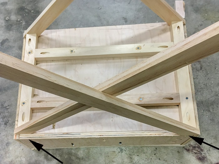 how to build an X-leg accent table.