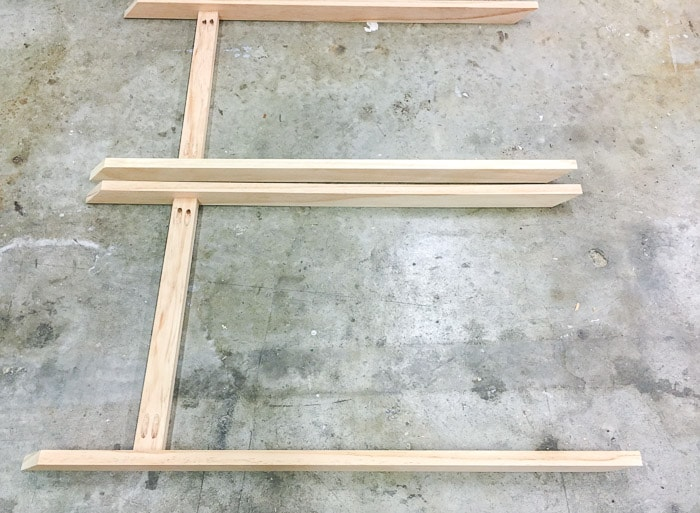 steps to build an X-leg accent table.