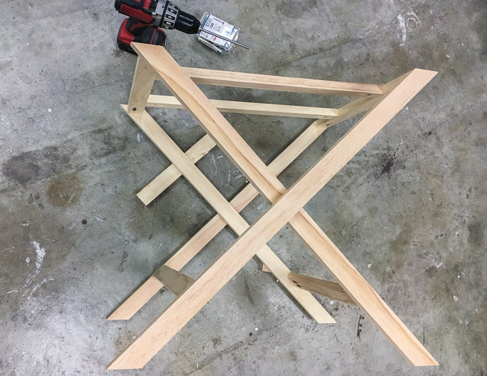 How to build the X-base bedside table.