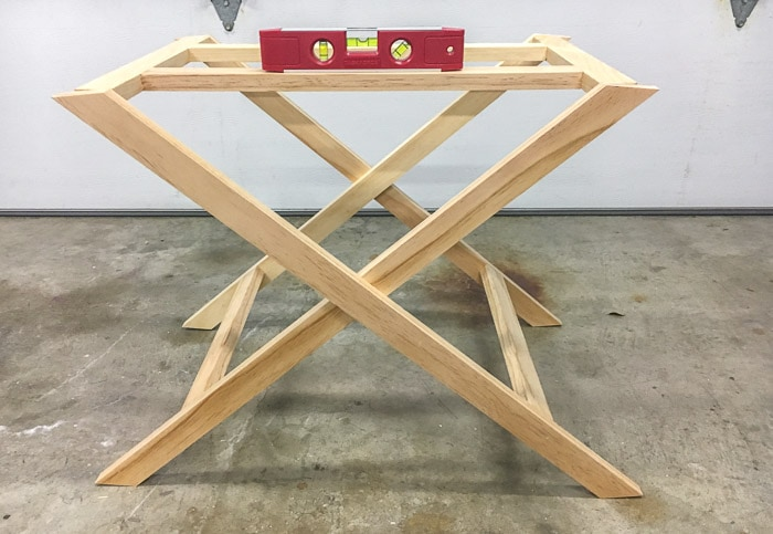 Step by step tutorial to build an X-leg table