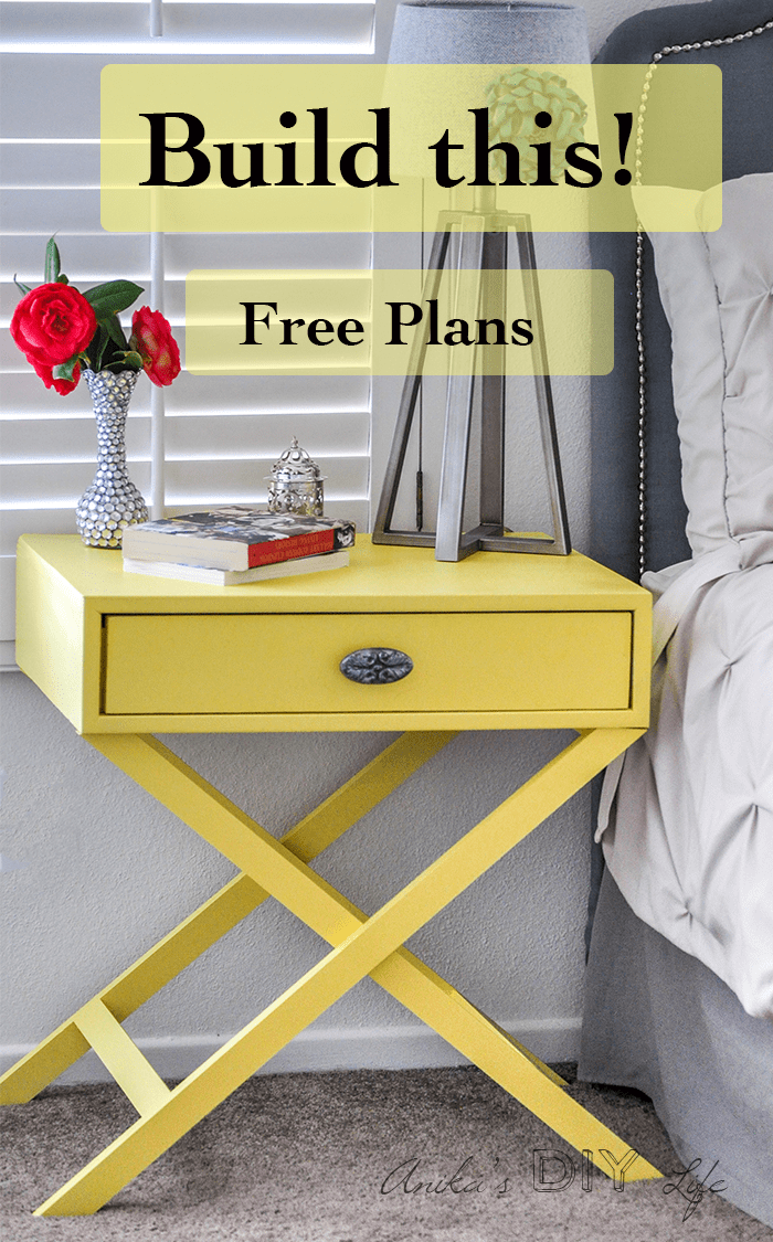 DIY nightstand idea | How to build an X-base accent table or nightstand