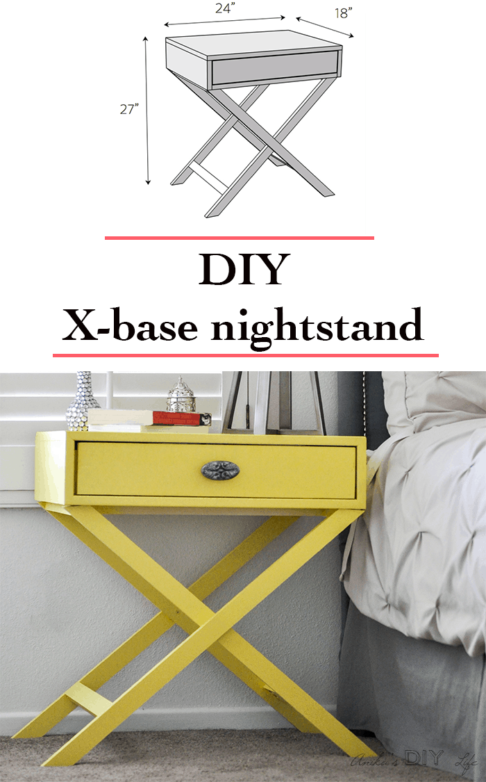 How To Build An X Leg Accent Table Free Plans Anika S