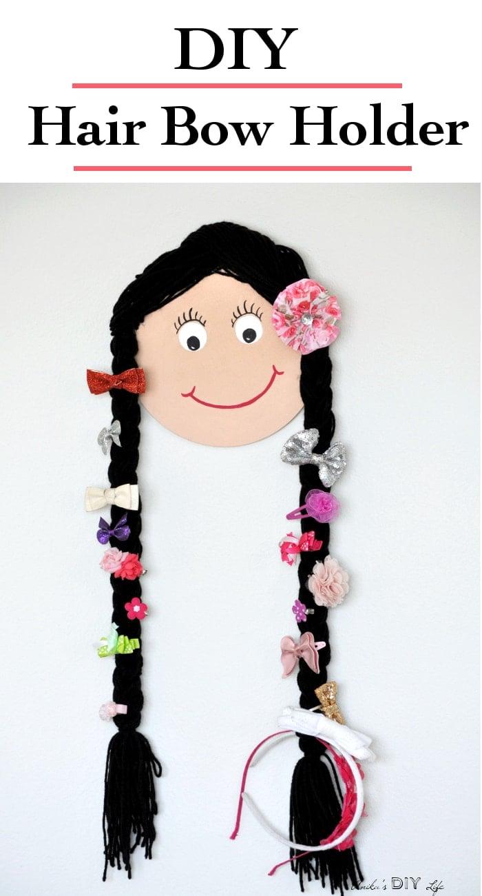 Diy Hair Bow Holder How To Make A Doll Face Hair Accessory Holder