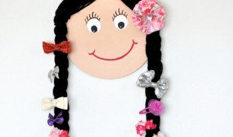 DIY Doll Face Hair Bow Holder