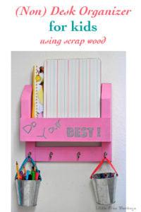 Kids desk organizer or homework station using scrap wood - Little Free Monkeys