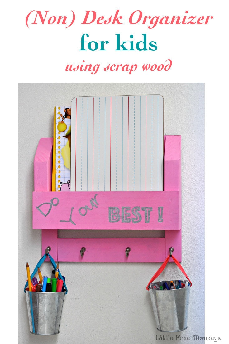 Kids Desk Organizer Or Homework Station Using S Wood Little Free Monkeys
