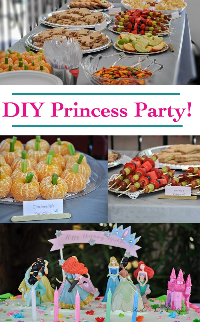 Diy Princess Party Decoration Ideas Part - 20: ... DIY Princess birthday party ideas - food, decorations and activities