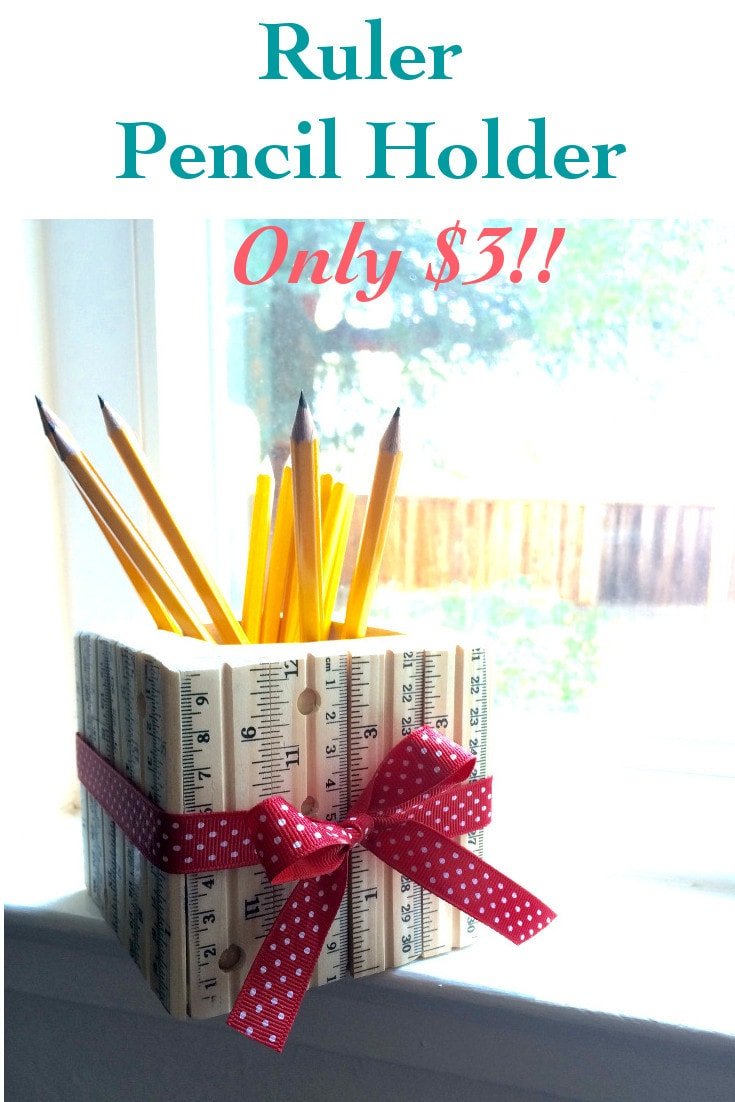 Ruler Pencil Holder - Great gift for Teachers and students - Little Free Monkeys