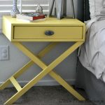DIY X-base Accent table with Free Plans