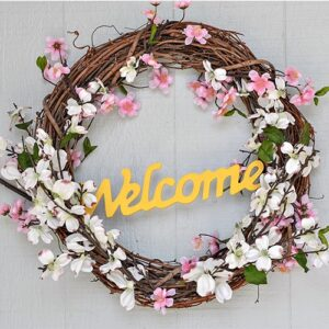 Bright and Cheerful Easy DIY Spring Wreath