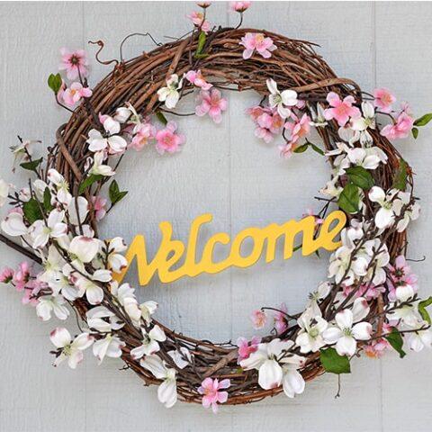 Easy 5-minute DIY Spring Wreath