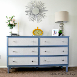 Fabric Paneled dresser – Ikea Tarva Hack