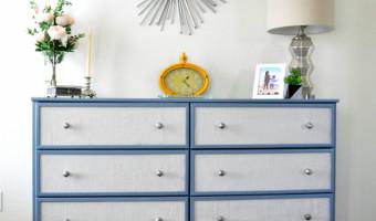Fabric Paneled dresser – Ikea Tarva Hack