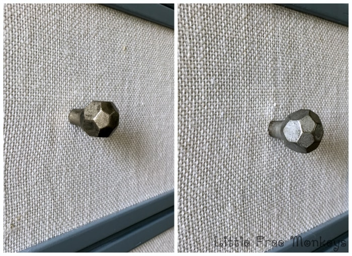 Fabric paneled Ikea Tarva dresser makeover - Little Free Monkeys