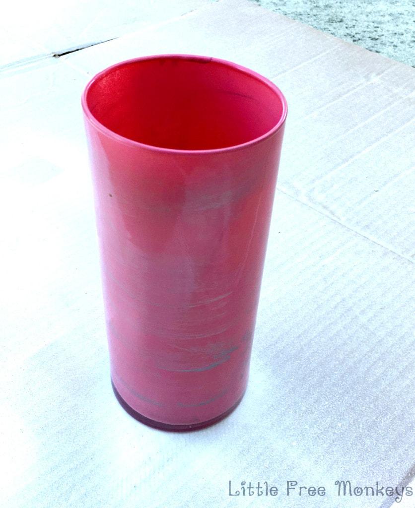 DIY Marbled Vase - Little Free Monkeys
