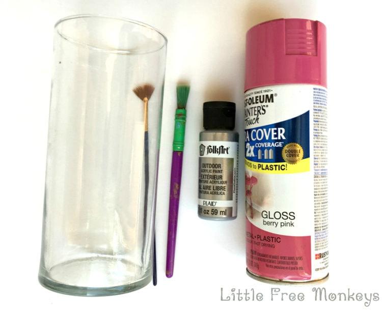 Materials for Marbled vase - Little Free Monkeys