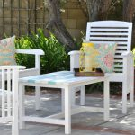 Painting Outdoor Wood – Patio set makeover