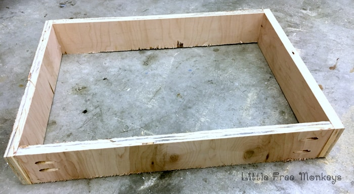 x-leg nightstand drawer assembly