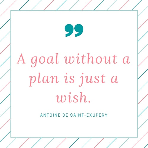 A Goal without a plan is just a wish quote